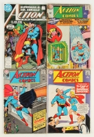 Lot of (4) 1966 Action Vintage Superman Comic Books with #339, #593, #346 & #343