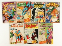Lot of (7) DC Vintage Superman Comic Books with 1968 #367, 1966 #130, 1972 #189, 1967 #203, 1973 #130, 1968 #88 & 1970 #102