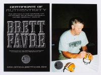 "Brett Favre Signed Packers Mini Helmet Inscribed ""95, 96, 97 MVP"" (Favre COA) at PristineAuction.com"