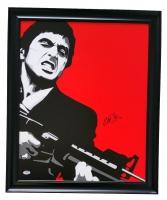 "Al Pacino Signed ""Scarface"" 22x25 Custom Framed Canvas Display (PSA COA)"