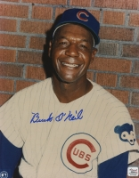Buck O'Neil Signed Cubs 8x10 Photo (Autograph Reference COA)