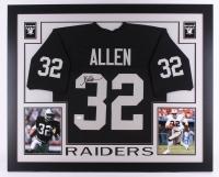 Marcus Allen Signed Raiders 35x43 Custom Framed Jersey (JSA COA)