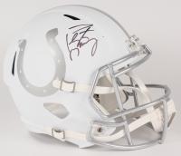 Peyton Manning Signed Colts Custom Matte White Full-Size Speed Ice Helmet (Fanatics Hologram)