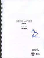 "Chevy Chase Signed ""National Lampoon's Vacation"" Full Script (Chase Hologram & Beckett Witnessed COA)"