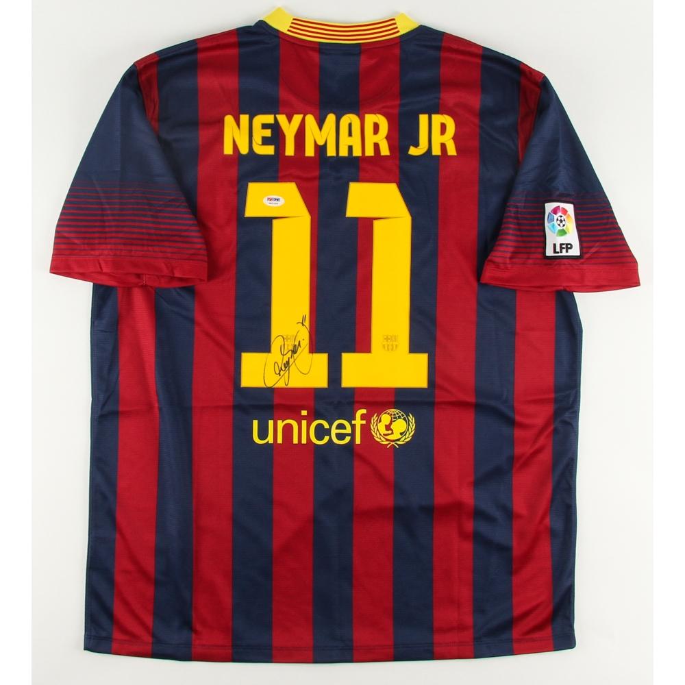 0e258061671 Neymar Signed Nike Barcelona Jersey (PSA LOA)