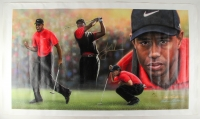 "Tiger Woods Signed LE 36"" x 62.5"" Giclee on Canvas (Upper Deck COA) at PristineAuction.com"