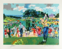 "LeRoy Neiman & Jack Nicklaus Signed ""Good Luck"" 32.5"" x 25.5"" Lithograph (JSA)"