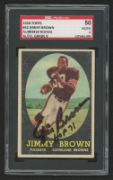 "Jim Brown Signed 1958 Topps #62 RC Inscribed ""HOF 71"" (SGC Encapsulated & Graded 4)"