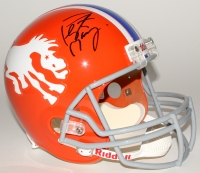 Peyton Manning Signed Broncos Throwback Full-Size Helmet (Fanatics Hologram) at PristineAuction.com