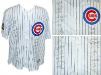 2016 Cubs Team-Signed Joe Maddon World Series Majestic Jersey with (22) Signatures Including Theo Epstein, Javier Baez, Kyle Hendricks, Jorge Soler (Schwartz COA)