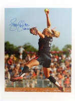 "Jennie Finch Signed 18x24 Photo Inscribed ""USA Gold"" (SI COA)"