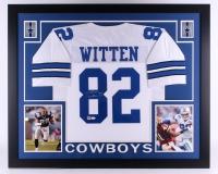"Jason Witten Signed Cowboys 35"" x 43"" Custom Framed Jersey (JSA COA & Witten) (Imperfect)"