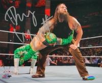 Bray Wyatt Signed WWE 8x10 Photo vs Sin Cara (SI COA)