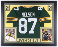 """Jordy Nelson Signed Packers 35"""" x 43"""" Custom Framed Jersey (JSA COA) at PristineAuction.com"""