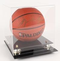 Michael Jordan Signed NBA Basketball with High-Quality Display Case  (UDA COA)