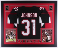 David Johnson Signed 35x43 Custom Framed Jersey (JSA COA) at PristineAuction.com