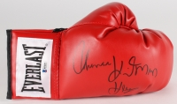 """Tommy Hearns Signed Everlast Boxing Glove Signed """"Tommy Hitman Hearns"""" (Beckett COA)"""