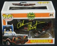 Adam West Signed Batman Batmobile Funko Pop Vinyl Doll at PristineAuction.com
