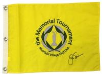 Jack Nicklaus Signed Memorial Golf Tournament Pin Flag (PSA LOA)