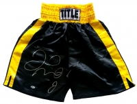 Floyd Mayweather Jr Signed Boxing Tunks (Beckett COA) at PristineAuction.com