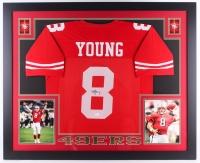 """Steve Young Signed 49er 35"""" x 43"""" Custom Framed Jersey (JSA COA)"""