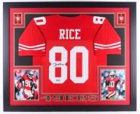"Jerry Rice Signed 49ers 35"" x 43"" Custom Framed Jersey (JSA COA & GTSM)"