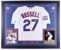 "Addison Russell Signed Cubs 35"" x 43"" Custom Framed Jersey (JSA COA)"