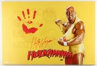 "Hulk Hogan Signed 20"" x 31"" Giclee on Gallery Stretched Canvas with Original Handprint (JSA LOA)"
