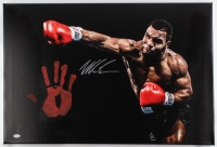 "Mike Tyson Signed 20"" x 31"" Giclee on Gallery Stretched Canvas with Original Handprint (JSA)"