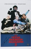 "Tom Savini Signed ""The Texas Chainsaw Massacre Part 2"" 11x17 Poster (Legends COA)"
