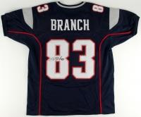 Deion Branch Signed Patriots Jersey (JSA COA)