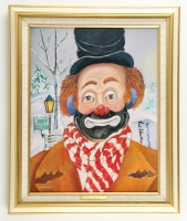 "Red Skelton Signed LE ""Winter Wonderland"" 18"" x 22"" Custom Framed Giclee on Canvas with Hand Embelishments (JSA ALOA)"