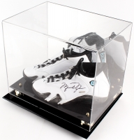 Michael Jordan Signed Pair of Air Jordan Retro 14 Basketball Shoes with Display Case (UDA COA)