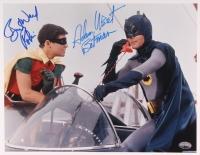 "Adam West & Burt Ward Signed ""Batman"" 11x14 Photo Inscribed ""Batman"" & ""Robin"" (PSA COA)"
