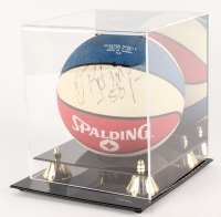 Michael Jordan & David Robinson Signed Spalding Mini Basketball with High-Quality Display Case  (PSA LOA)