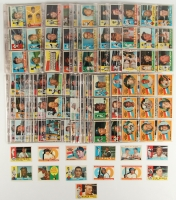 1960 Topps Complete Set of (572) Baseball Cards with #350 Mickey Mantle, #563 Mickey Mantle AS, #148 Carl Yastrzemski RS RC, #326 Roberto Clemente, #200 Willie Mays, #300 Hank Aaron, #343 Sandy Koufax