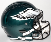 "Carson Wentz Signed Eagles Full-Size Speed Helmet Inscribed ""AO1"" (Fanatics COA)"