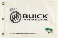 Phil Mickelson Signed Buick Invitational Golf Pin Flag (JSA COA)