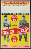 "Muhammad Ali AKA ""Cassius Clay"" & Joe Frazier Signed ""Fight of the Century"" 14"" x 22"" Original 1971 Fight Poster (JSA ALOA)"