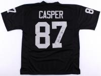 "Dave Casper Signed Raiders Jersey Inscribed ""HOF 02"" (PSA COA)"