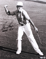 "Gary Player Signed LE ""Victory Celebration"" 16x20 Photo Inscribed ""MASTERS 1978"" (UDA COA)"