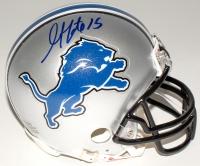 Golden Tate Signed Lions Mini-Helmet (JSA COA)