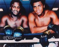 Muhammad Ali & Joe Frazier Signed 16x20 Photo (PSA LOA)