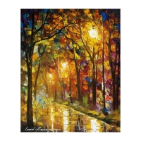 """Leonid Afremov Signed """"Color Of Sophistication"""" 16x20 Original Oil Painting on Canvas at PristineAuction.com"""