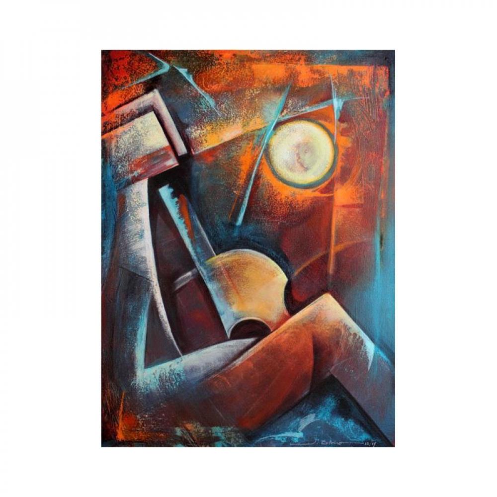 "Juan Cotrino Signed ""Moonlight"" 30x40 Original Mixed Media Acrylic on Canvas at PristineAuction.com"