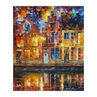"Leonid Afremov Signed ""Drawing The Town"" 20x24 Original Oil Painting on Canvas at PristineAuction.com"