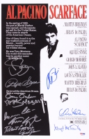 """Scarface"" 11"" x 17"" Poster Print Signed by (11) with Al Pacino, Pepe Serna, Steven Bauer, Mark Margolis (PSA LOA)"