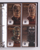 Pro Football Hall of Fame Bronze Bust Collector Card Set Signed by (147+) with Joe Montana, John Elway, Barry Sanders, John Madden, Steve Young, Terry Bradshaw, Franco Harris, Jack Lambert, Dan Marino (HOF COA)