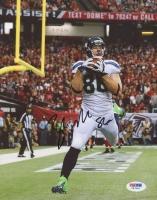 Zach Miller Signed Seahawks 8x10 Photo (PSA COA)