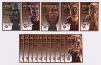 Lot of (16) Redskins LE Bronze Bust Football Hall of Fame Postcards with (9) Unsigned Postcards, & (7) Signed by Russ Grimm, Ken Houston, John Riggins, Charley Taylor (PFHOF COA)